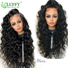 13*6 Fake Scalp Lace Front Human Hair Wigs Pre Plucked Remy Peruvian Loose Wave
