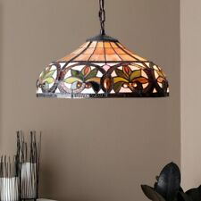 Tiffany Style Lamp Hanging Ceiling Chandelier Pendant Lighting Stained Glass 17""