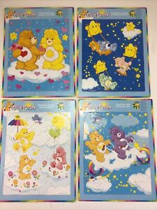 Lot Of 4 Childrens Board Puzzles.  25 Pieces Each.  Care Bears.  Rose Art.