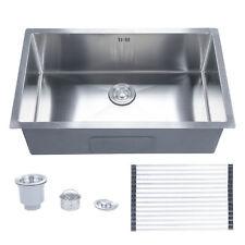 """Undermount Stainless Steel Kitchen Sink Single Bowl 28"""" x 18"""" x 9"""" w/ Grid."""