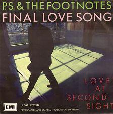"""P.S. & THE FOOTNOTES – Final Love Song (1983 NEDERPOP VINYL SINGLE 7"""")"""