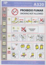 TAP Air Portugal airline SAFETY CARD 320 May 2012 emergency brochure sc899 ax