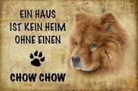 Sin Casa Chow Perro Dog Letrero de Metal Arqueado Cartel Lata 20 X 30CM