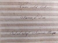 """1800/1820 - SPARTITO MANOSCRITTO DELLA SCENA """"VIENI COLA' T'ATTENDO"""" DI S. MAYER"""