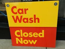 Heavy Metal Dualite 36'' X 36'' 3ftX3ft Car Wash Open Close Sign New In Box