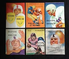 Vintage Lot of 6 Highschool Football Programs from the 40s and 50s ( REDUCED )