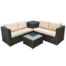 Jalano Poly Rattan Lounge Set Gartenmöbel Gartengarnitur anthrazit