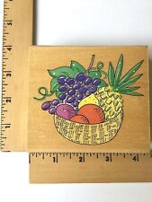 Stampa Rosa Rubber Stamp - Bountiful Fruit in Basket- 50-158 - NEW