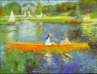 The Seine by Pierre-Auguste Renoir Giclee Fine Art Print Repro on Canvas