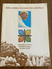 New listing Rare October 4, 1979 Program for Pope John Paul Ii's Visit to Des Moines, Iowa!