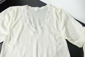 Damen Spencer Unterhemd * Unterhemd * Schurwolle mit Viscose Gr. 46 * Vintage