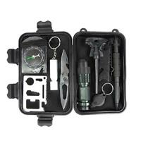 Compact 8-in-1 Survival Kit, Multi-Purpose EDC Outdoor Emergency TOP