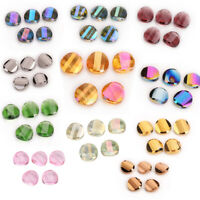 10Pcs 14 18mm Faceted Glass Crystal Rondelle Beads Spacer Loose Bead New