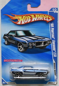 HOT WHEELS 2010 MUSCLE MANIA '69 PONTIAC FIREBIRD T/A BLUE