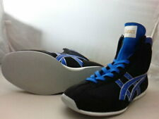 Authentic asics Boxing Shoes Short type Black Marine blue Gold from Japan Bto