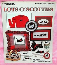 Leisure Arts Lots O' Scotties Cross Stitch Chart Pattern Leaflet Scotty Dogs