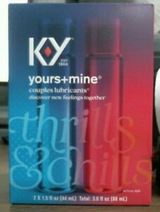 KY Yours and Mine Couples Lubricants, Intimate Pleasure Gel, 3 oz NIB