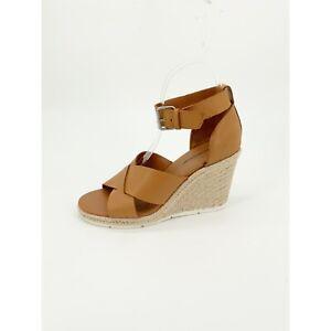 Treasure & Bond Poppy Espadrille Wedge Sandal Leather Open Toe Strap Size 7.5