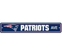 "New England Patriots Ave Street Sign 4""x24"" NFL Football Team Logo Man Cave"