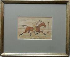 JOHN LEECH 1817-1864 ORIGINAL SIGNED PEN & INK/WATERCOLOUR 'CARTOON/CARICATURE'