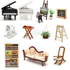 Vintage Doll House Miniature Wooden Furniture Living Room Accessories 1/12 Scale