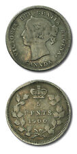 Canada Victoria Five Cents 1900 Fine Details Slightly Bent KM-2