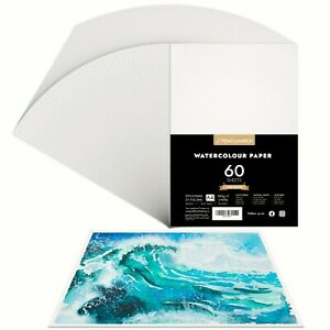 PENCILMARCH Watercolour Paper A4 x 60 Sheets 300gsm for Watercolour Painting