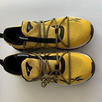 Reebok Trideca 200 EH1793 Mens Yellow Mesh Lace Up Athletic Running Shoes 12