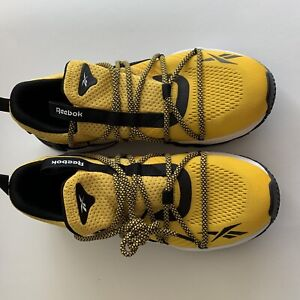 Reebok Trideca 200 EH1793 Mens Yellow Mesh Lace Up Athletic Running Shoes 10 1/2