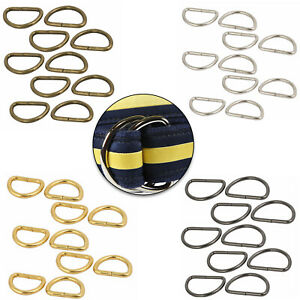 Metal D Rings Buckles Non Welded Assorted Size for Pet Collars Crafts 10/20pcs