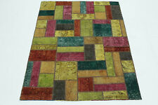 Patchwork Orient Tapis Vintage moderne 200x150 turquoise multicolore