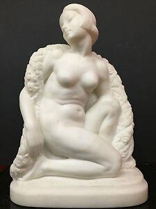 Italian Art Deco Beauty Marble Sculpture, Guglielmo Pugi (1870-1915), 15.5in. H
