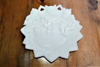 VINTAGE Milk glass 3 bears COLLECTIBLE  wall plate 7""