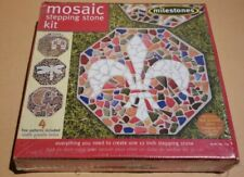 Milestones Mosaic Stepping Stone Kit, Makes a 12-in Stone 4 Design Stained Glass