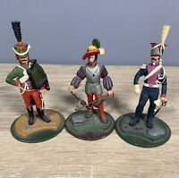 3 x Model Cast Metal Toy Soldiers - Series 77 - Military - Swords - Crossbow etc