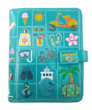 ShagWear Small Bifold Zipper Wallet Faux Leather Turquoise Vacation Travel Theme