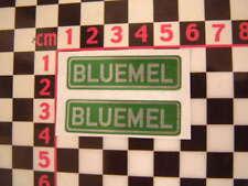 Bluemel Number Plate Stickers - Austin Morris MG Wolseley Jaguar Daimler Rootes