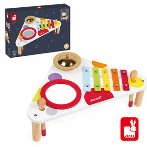 New JANOD WOODEN CONFETTI MUSICAL TABLE Children's Interactive Music Instruments