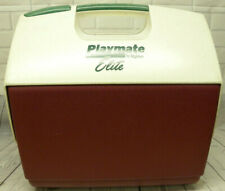 Vintage Igloo Cranberry Red White Playmate Elite Lunch Box Cooler Ice Chest