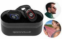 Rockville iRock TWS True Wireless Bluetooth EarBuds Headphones+600mAh Powerbank