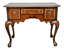 19th Century English Walnut Queen Anne Lowboy With Banded Satinwood Inlay