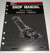 Honda HRM215 HRB215 Rotary Walk Behind Lawn Mower Service Shop Repair Manual OEM