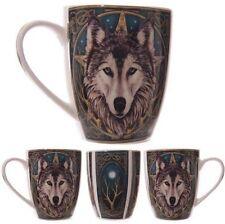 Mug Bone China Mug Wolf Head Design Lisa Parker