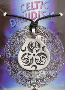 Anhänger + Riemen Tribal Ethnisch Keltisch Druidentum Zinn Schutz B6 7976