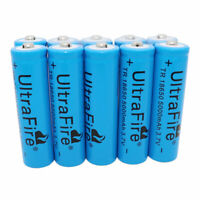 10X 18650 Li-ion 5000mAh 3.7V Rechargeable Battery Flashlight BRC Torch Light