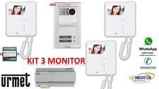 KIT VIDEOCITOFONO URMET 3 monitor 1783/322 videocitofono 3 interni 1783/704 TRE