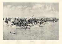 FREDERIC REMINGTON UNITED STATES HORSE CAVALRY CHARGE BATTLE HISTORY SADDLES