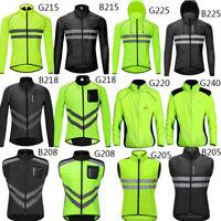 Men's Cycling Jacket Jersey High Vis Wind Coat Reflective Windbreaker Waterproof