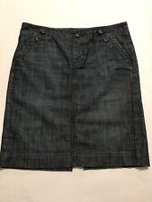 GAP 1969 Limited Edition Size 6 Dark Wash Blue Denim Pencil Skirt 32 X 19 EUC