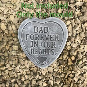Concrete memorial  mould moulds memorial hearts not latex